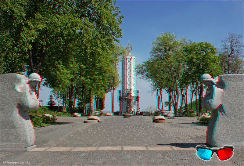 Stereo photography. Anaglyph