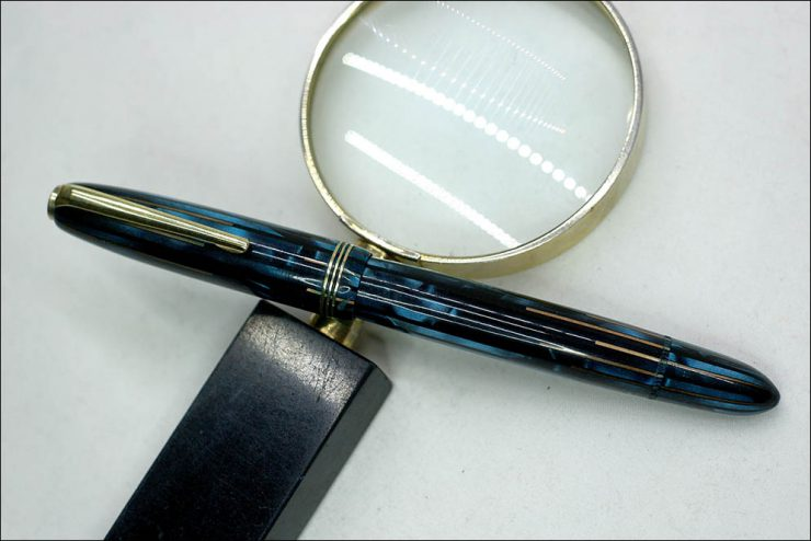 Nonamed blue stripe pen with Bock Nib