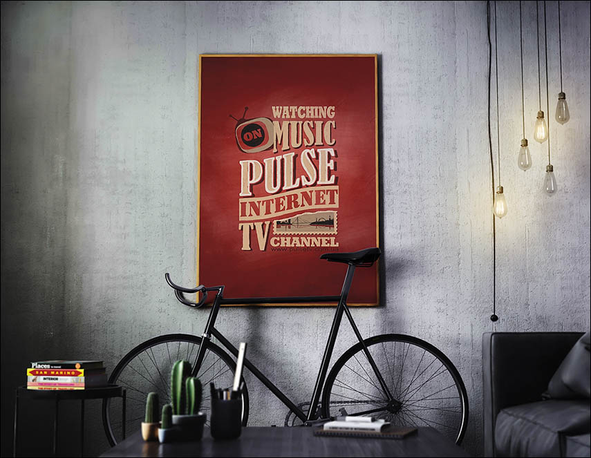 Pulse typography mockup