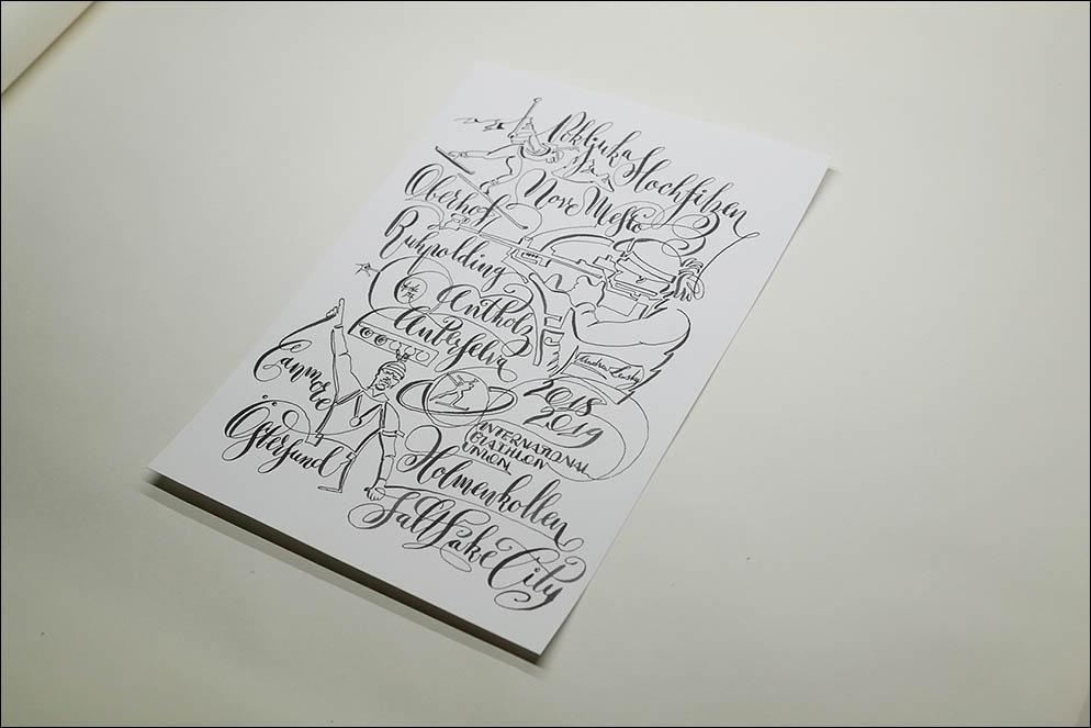 Biathlon T-Shirt SketChalligraphy. Lenskiy.org