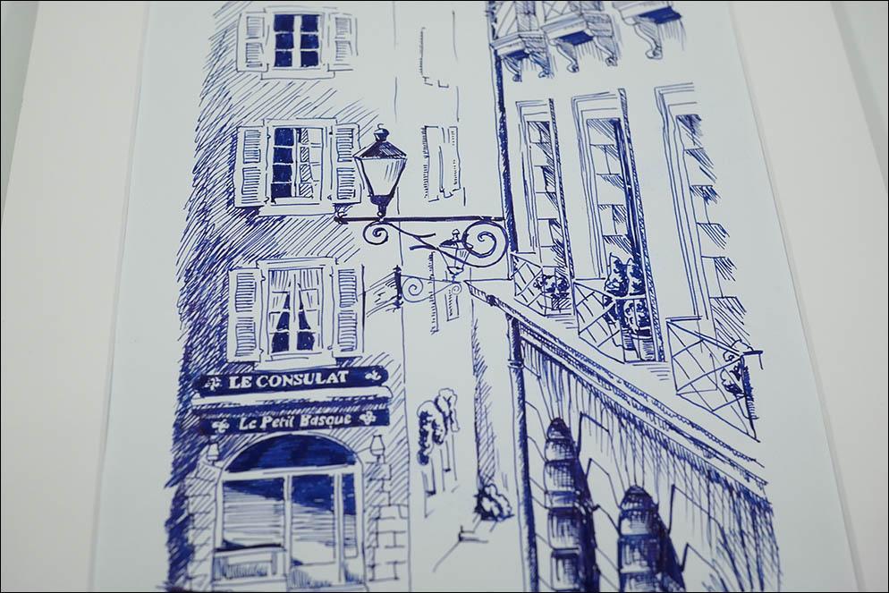 Geneve street. Illustration. Lenskiy.org