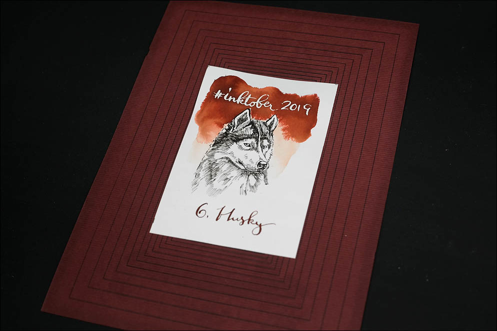 #inktober2019. 6: Husky. Lenskiy.org