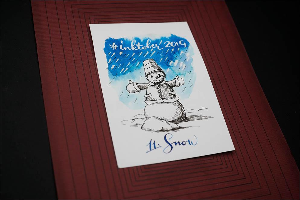 #inktober2019. 11: Snow. Lenskiy.org