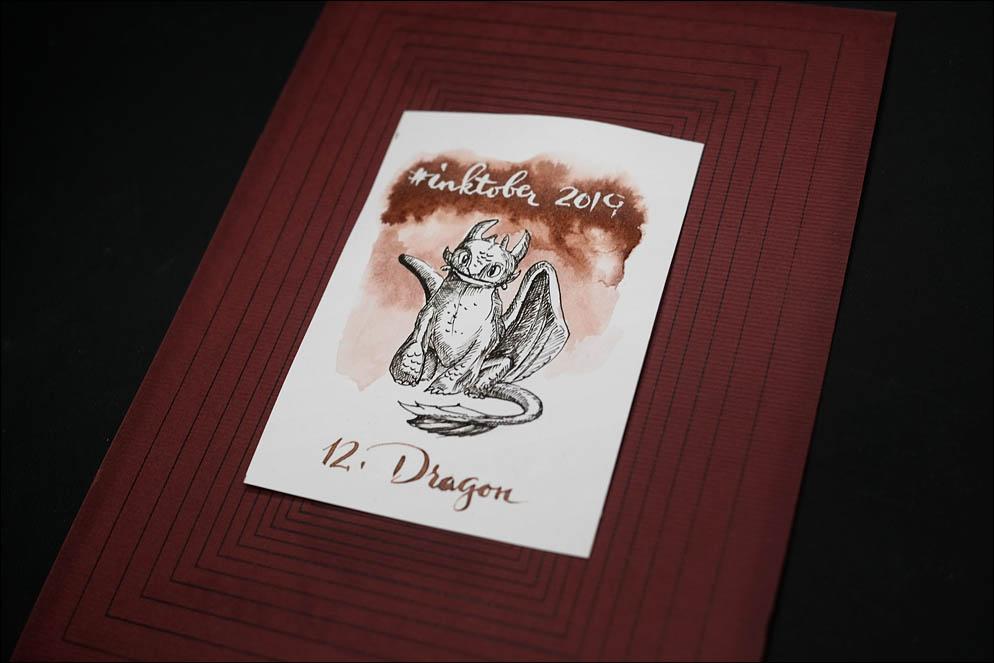 #inktober2019. 12: Dragon. Lenskiy.org