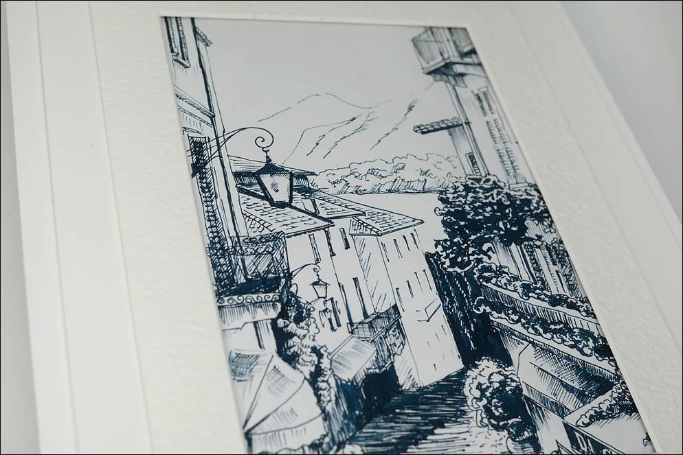 Salita Serbeloni. Bellagio. Italy. Illustration. Lenskiy.org
