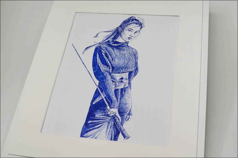 Liu Yifei. Mulan. Illustration. Lenskiy.org