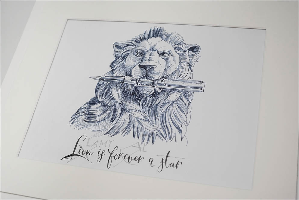 Lion vs Lamy. Joke adver. Lenskiy.org