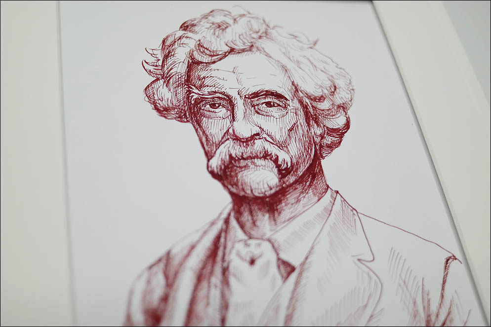 Samuel Langhorne Clemens known by Mark Twain. Lenskiy.org