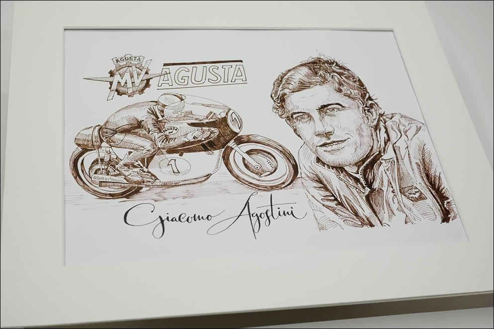 MV Agusta 500 three and Giacomo Agostini, winner from 1966 to 1972 500cc class. Lenskiy.org