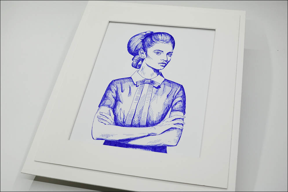 Girl with vintage visage. Lenskiy.org