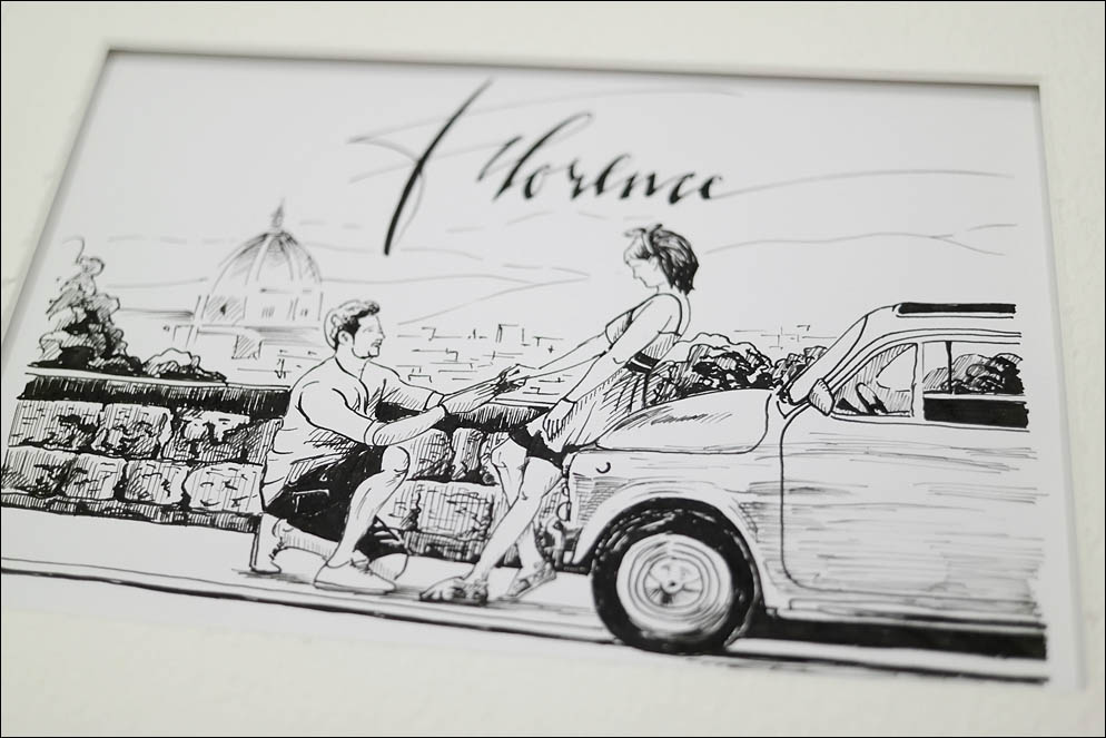 Italy. Florence. Love. Fiat 500. Lenskiy.org