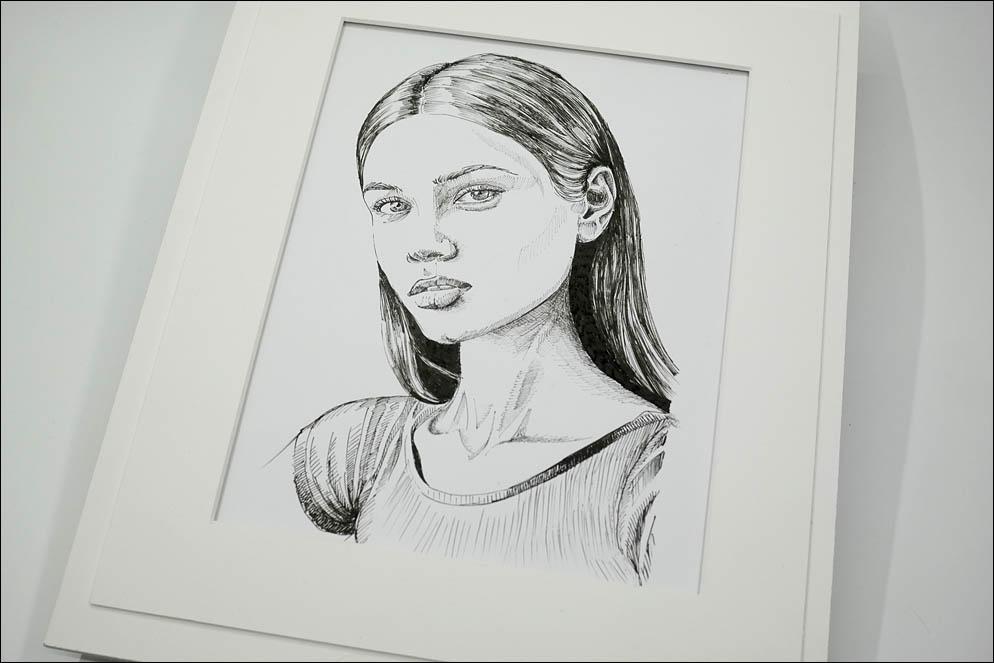 Portrait of pretty girl. Lenskiy.org