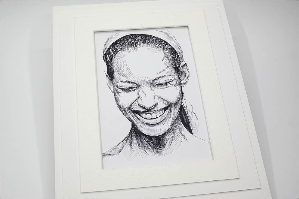 Girl who laughs openly. Lenskiy.org