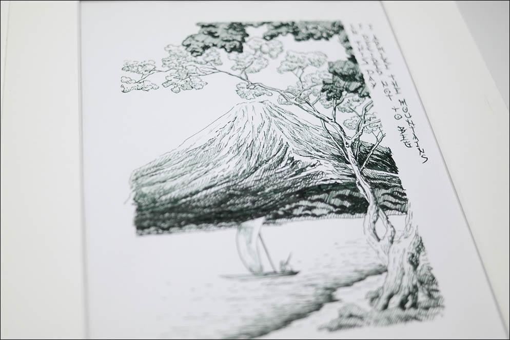 Takahashi Shotei landscape and Taneda Santouka Hokku. Japan. Lenskiy.org