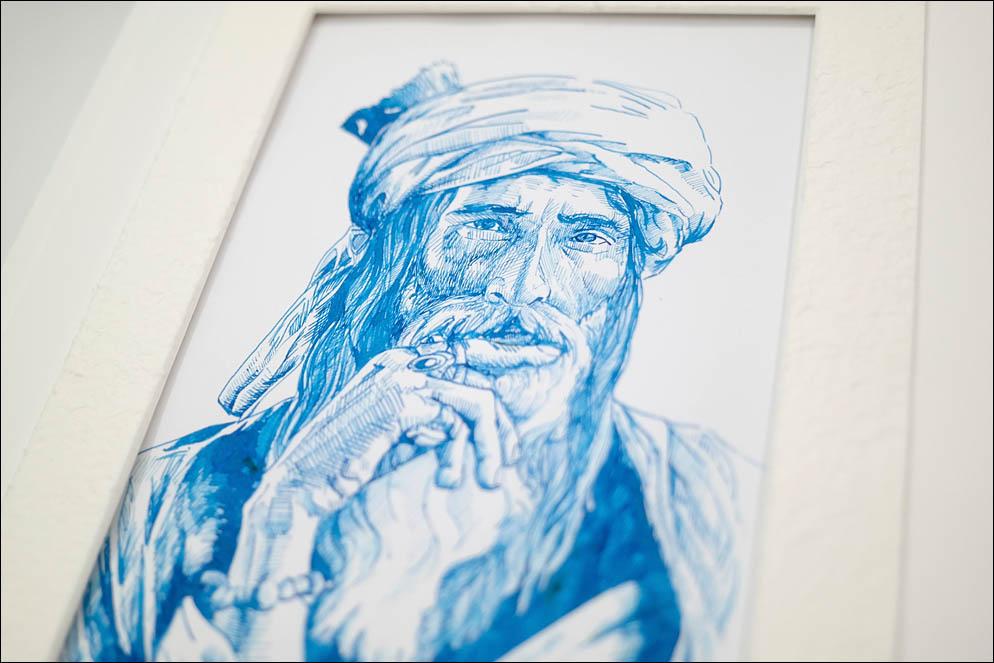 Portrait of old man in turban. Lenskiy.org
