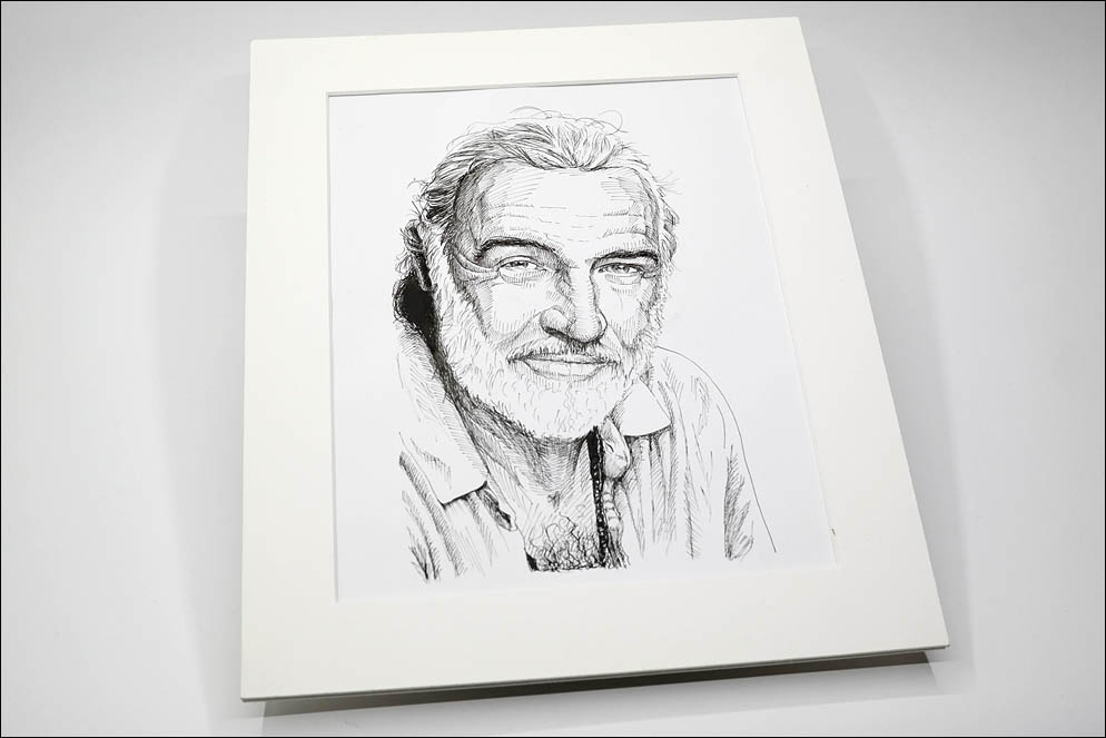 "Sir Sean Connery by dr. Robert Campbell from ""Medicine Man"" (1992). Lenskiy.org"