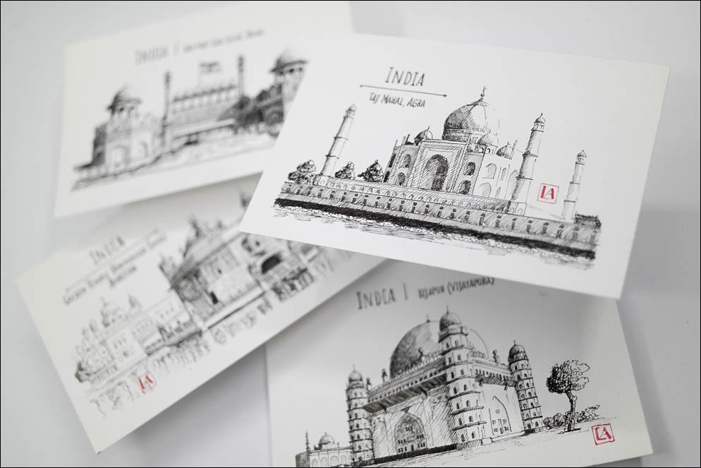 India Sights Postcards. Lenskiy.org
