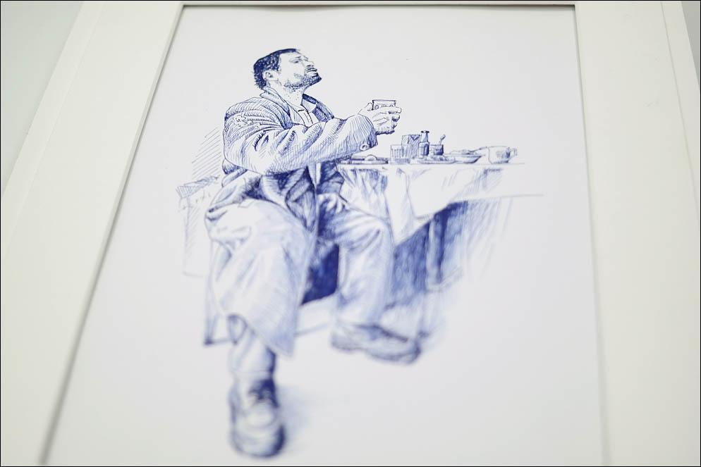 Bud'mo! Sketch from Serge Grebenyk photo. Lenskiy.org
