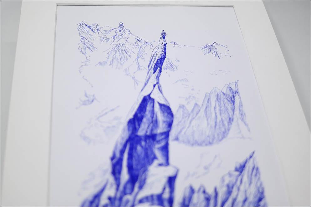 Gaston Rebuffat on the Aiguille de Roc, 1944, Mont Blanc, France. Lenskiy.org