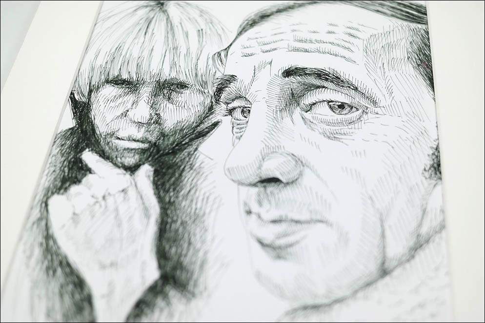 Jane Birkin and Charles Aznavour by Frank Habicht. Lenskiy.org