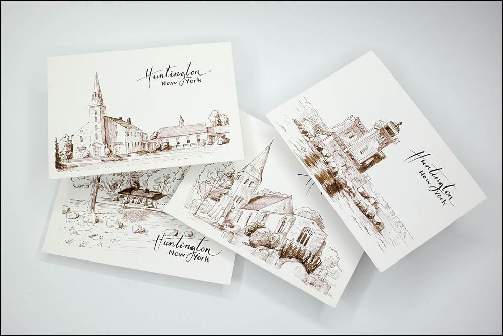 Huntington Sights Postcards. NY. USA. Lenskiy.org