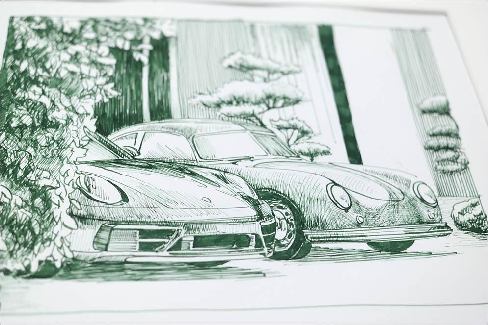 Porsche Carrera 911 (922 series) and 356 model. Lenskiy.org