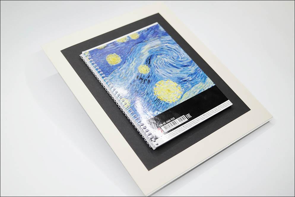 Cropped A4 sketchbook to A5. Lenskiy.org