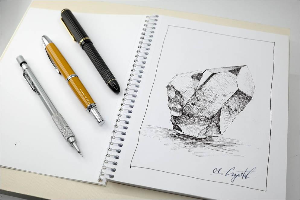 01. Crystal. Inktober2021. Lenskiy.org