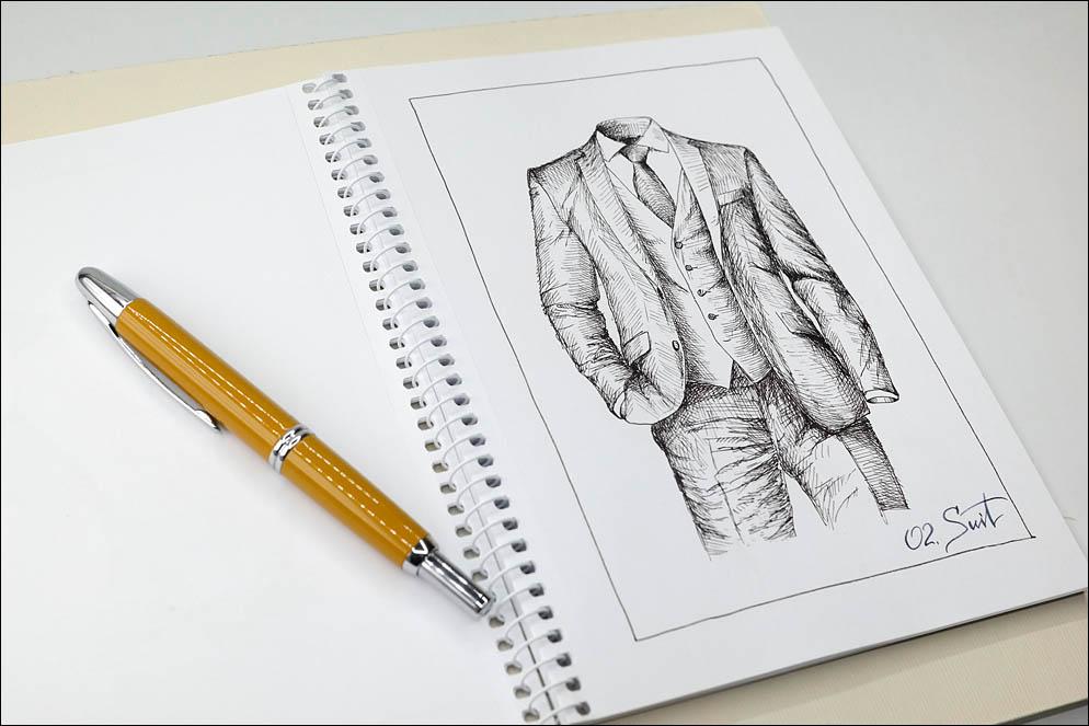 02. Suit. Inktober2021. Lenskiy.org