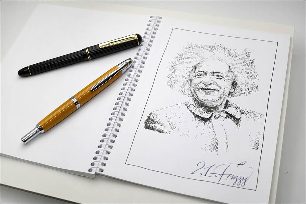 21. Fuzzy (Albert Einstein). Inktober2021. Lenskiy.org